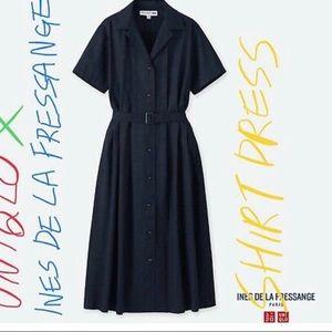 Uniqlo Ines de la Fressange Black Linen Dress